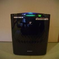 全室完備の加湿・空気清浄機(プラズマクラスター)