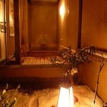露天風呂坪庭