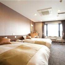 【ときわ館洋室】ツインベッドルーム(27平米)