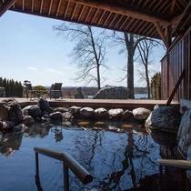 十勝川の景色とモール温泉の相乗効果で癒しのひと時を。