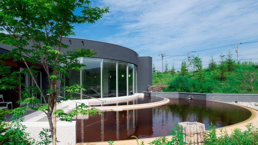 【ガーデンスパ十勝川温泉】水着で楽しめるモール温泉、みんな一緒に楽しめるガーデンスパ