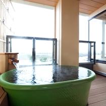 明月の露天風呂