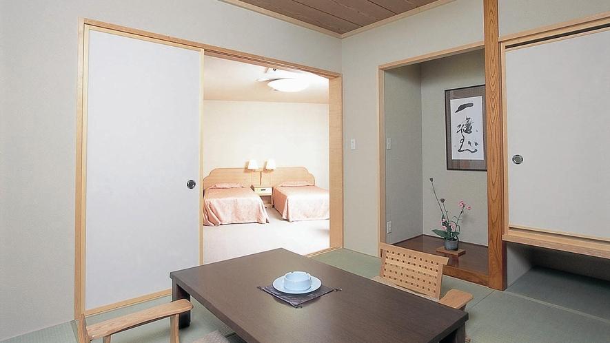 【展望フロア準特別室】露天風呂付・和洋室(川側/禁煙)