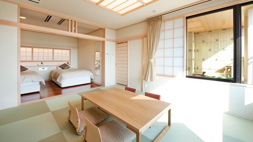 【展望フロア特別室】露天風呂付・和洋室(川側/禁煙)