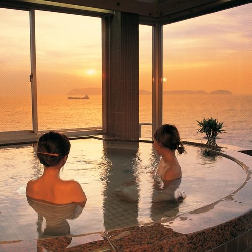 大浴場も露天風呂も朝夕で男女入れ替え制です