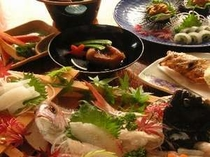 舟盛り料理一例