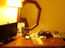 客室デスク、テレビ