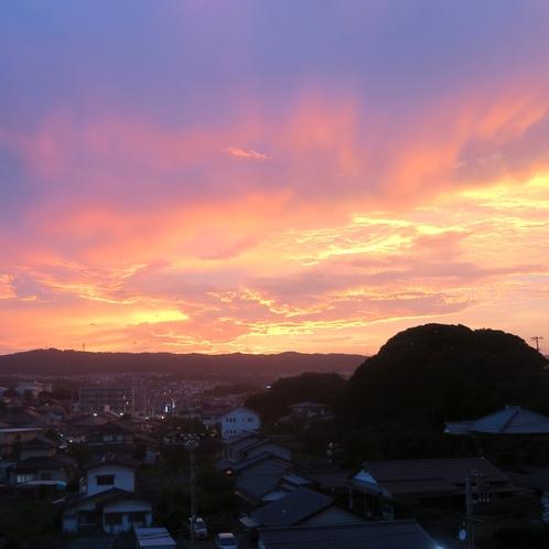 風神山夕暮れ55