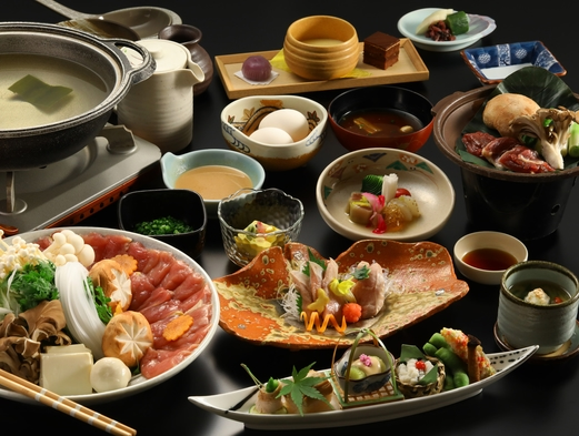 【お料理満喫!!】鬼北雉『キジ』を堪能する。選べるお料理、「雉大鍋」「雉すき焼き」