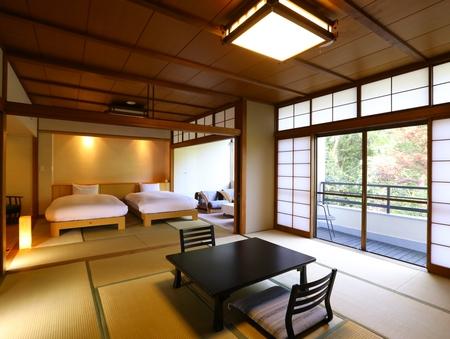 和室12.5畳+8畳ベットルーム(シモンズセミダブルベット)