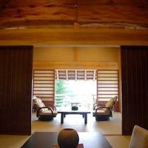 【 健部の郷の宮処 】客室からは日本庭園が眺望できます。