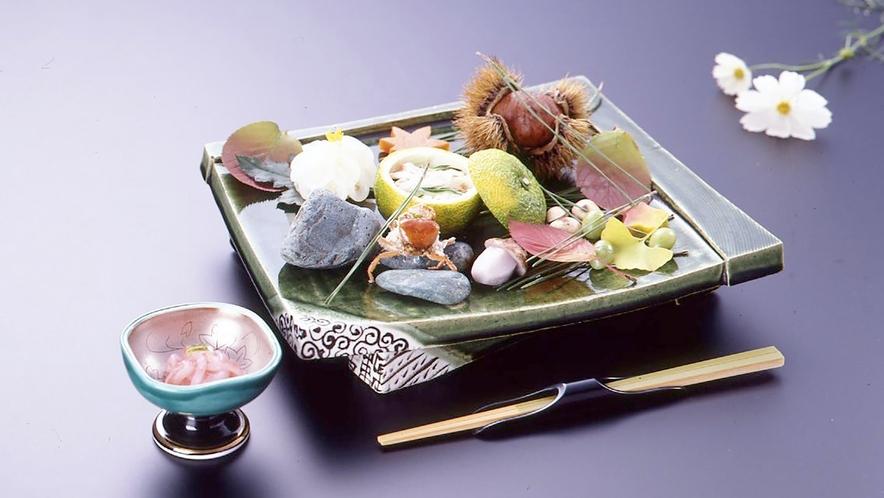 *【お食事一例】器や彩にも拘ってお食事をご提供いたしております。