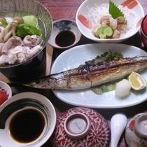 夕食 秋刀魚塩焼き