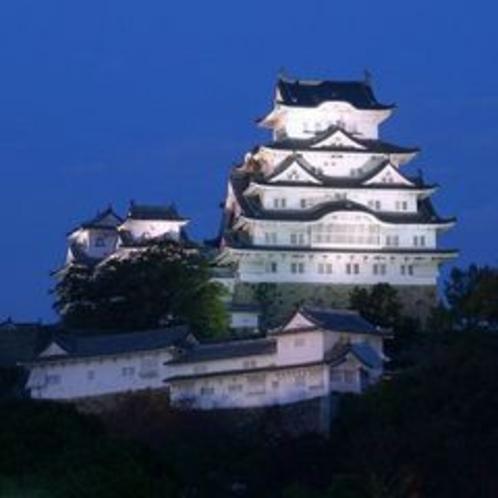 姫路城大天守のライトアップと夜景5