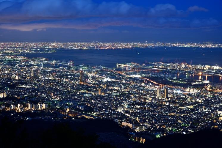 掬星台から見た神戸の夜景