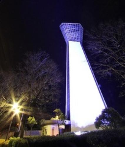 夜のいわきマリンタワー