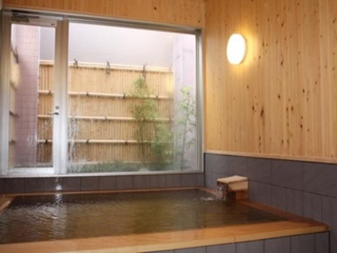 グレースハウスの檜風呂