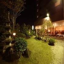 レストラン庭園風景