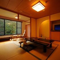 桐の花和洋室【花浅葱】和室8畳+ツインベッド