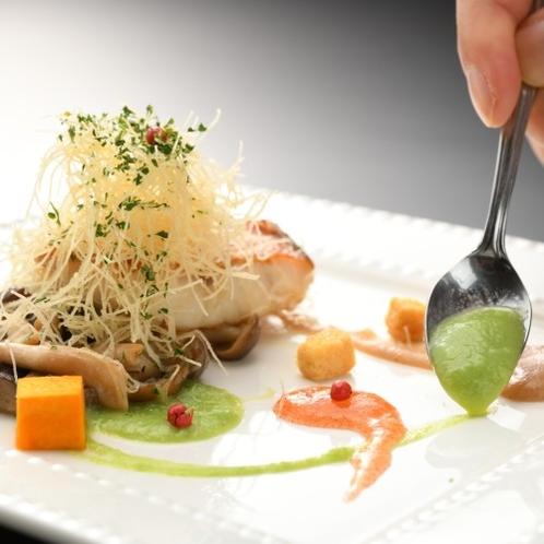 【季節の洋皿】味は勿論、盛付の細部まで料理長がこだわっている逸品です。
