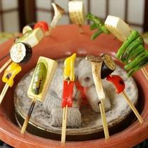 豆腐と季節の野菜の田楽