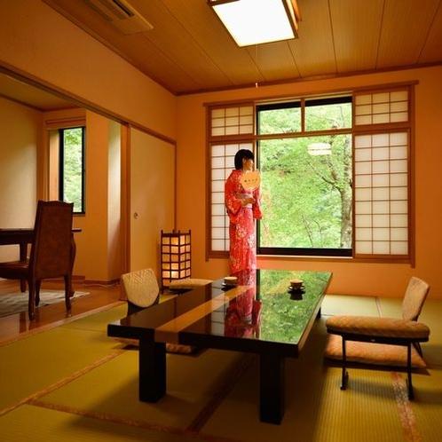 半露天風呂付客室【杏】和室8畳+洋間
