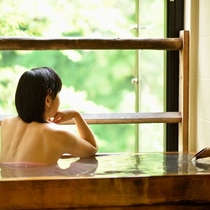 半露天風呂付客室【杏】檜風呂