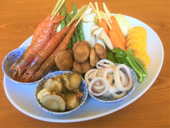 BBQセット~海鮮、野菜~
