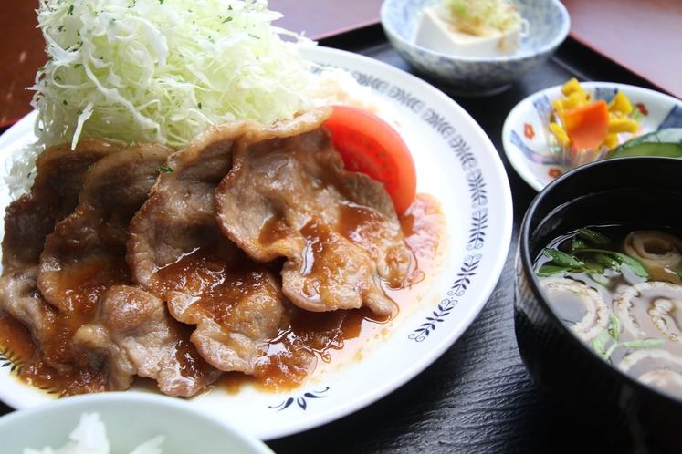 定食メニュー ~生姜焼き~