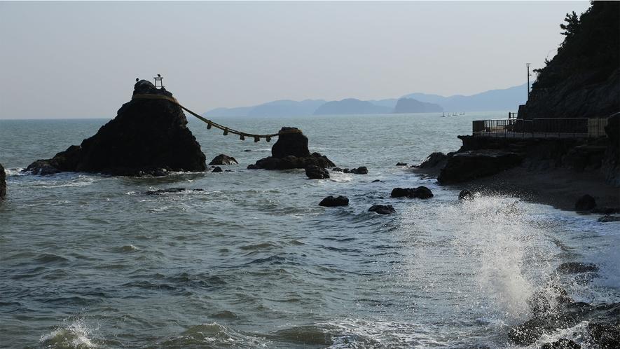 ◆夫婦岩(鳥羽市二見興玉神社内)