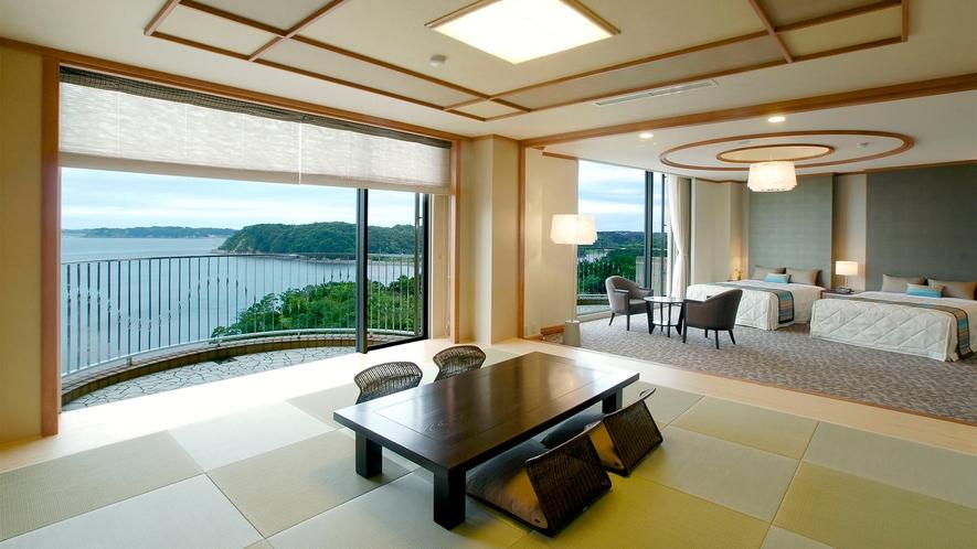 ◆【海側】特別和洋室(DXルーム) 80m2 定員7名 ◇禁煙◇(8)