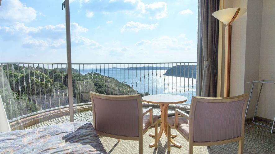 ◆的矢湾の雄大な景観美(客室より)