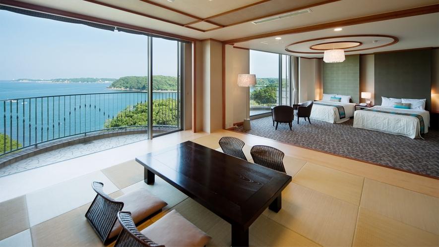 ◆【海側】特別和洋室(DXルーム) 80m2 定員7名 ◇禁煙◇(3)