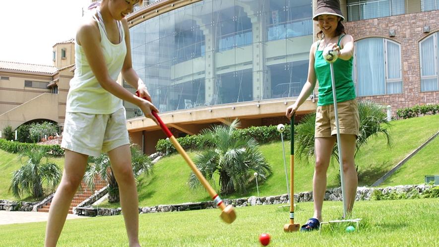 ◆グランドゴルフ(東側 客室テラス方向)