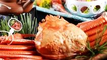 【料理】秋の厳選会席(茹で姿タグ付き香住ガニ)