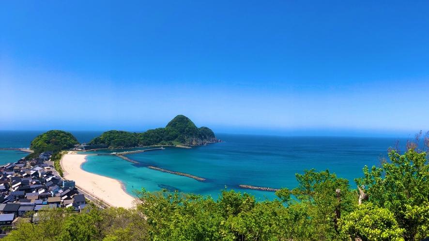 【風景】猫崎半島全景(じゃじゃ山からの眺め)