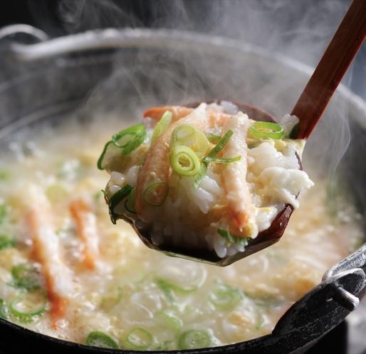 カニすき鍋の〆!雑炊