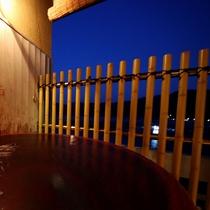 客室露天の眺め