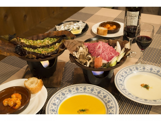 【秋冬旅セール】スペインと和の美味しいコラボ特選飛騨牛朴葉味噌ステーキ4等級のロース