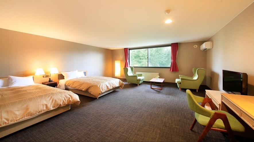 ■「デラックスツイン」広々客室でお部屋時間を満喫いただけます。