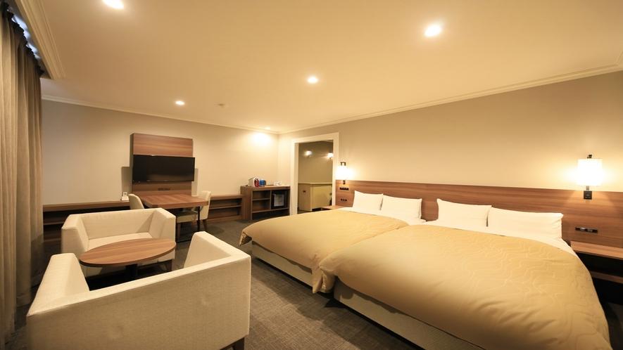 ■「ハリウッドツイン」シングルベッドを隣合わせにしたお部屋です。