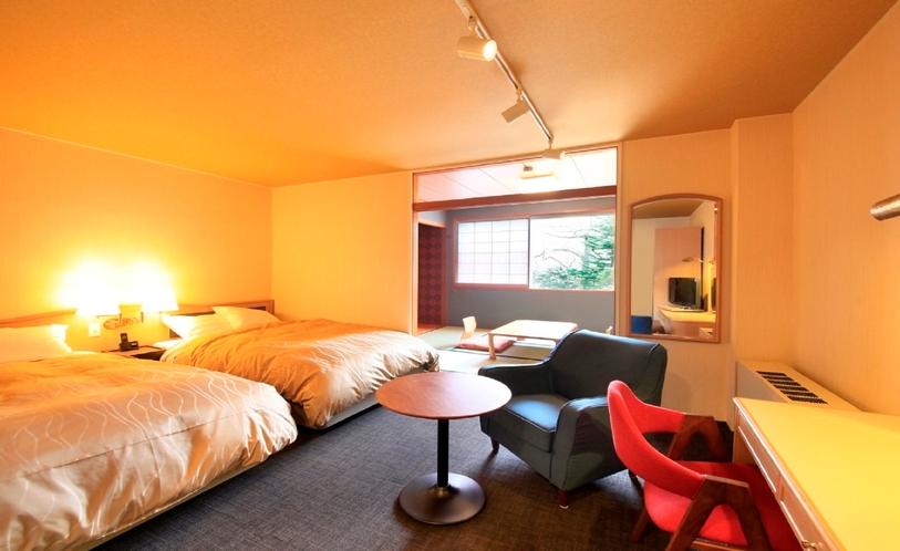 ■「和洋室」軽井沢では珍しい和洋室タイプのお部屋です。