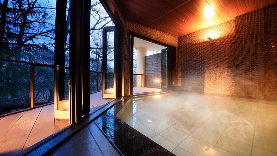 ■中軽井沢では珍しい温泉をお愉しみいただけます。