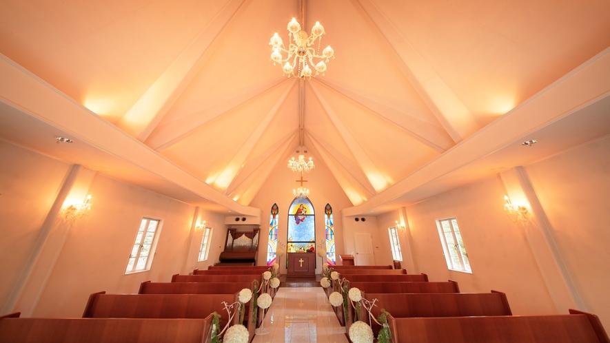 ■「教会」ホテルに併設しており、婚礼も承ております。