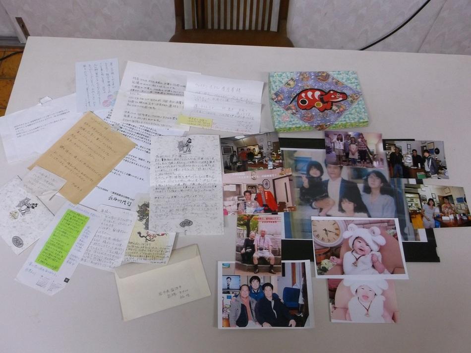 お客様からいただいたお手紙とお写真です。