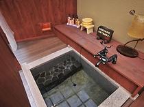 客室に備え付けられている露天風呂