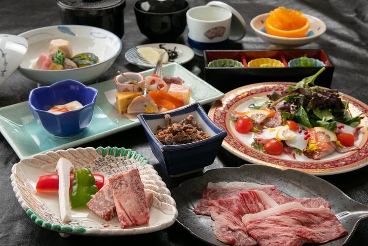 神戸牛会席 最高峰の脂の風味と口どけ、赤身のきめ細やかさと香りを豊かに表現