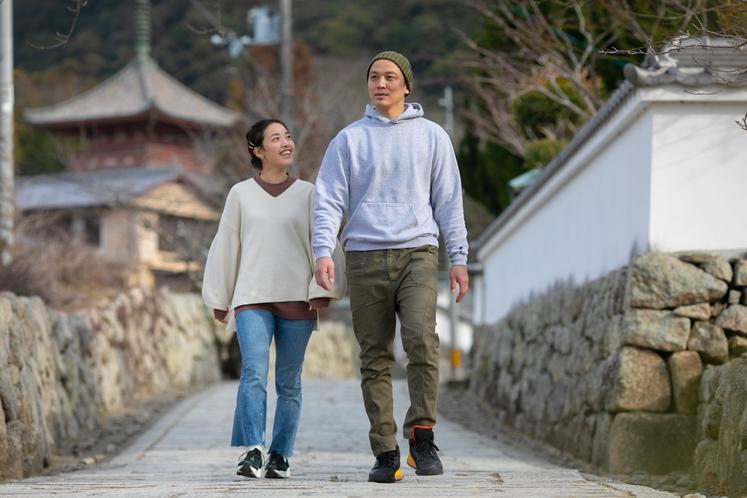 近くには国宝太山寺もあり。散策にも大人気のスポットです