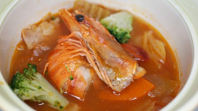 飛騨牛しゃぶしゃぶ、鮑や相模湾の地魚などお造り盛合せ、ブイヤベース、などが楽しめるレストラン食プラン