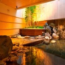 男性用露天風呂「毘沙門の湯」